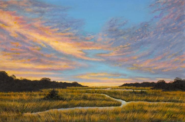 Lori_Off Jones Lane, Barnstable County_24 x 36 in_oil on canvas